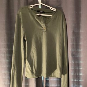 Forever 21 Army Green Long Sleeve